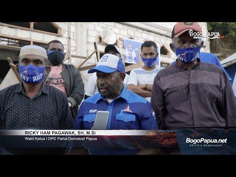 Awali Tahun 2021, Demokrat Papua Bantu Pembangunan Masjid Al Muhajirin Pulau Kosong