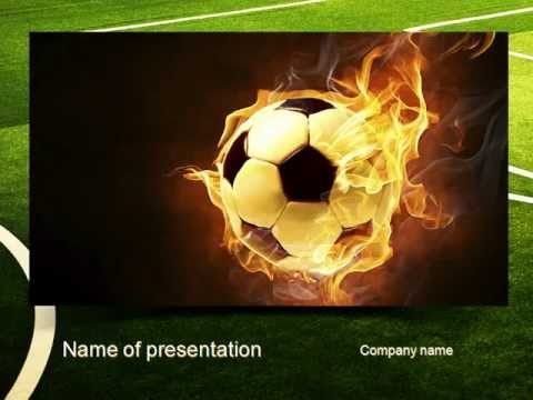 Football in fire flame powerpoint template youtube toneelgroepblik Image collections