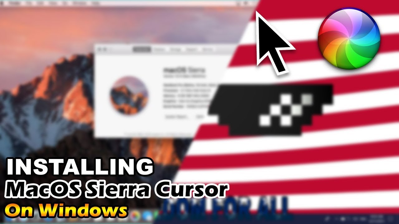 How to Install MacOS Sierra Cursor on Windows 10?