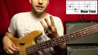 Basics of playing Reggae Part 1 - Major and Minor Triads - Bass Lesson - L#3 thumbnail