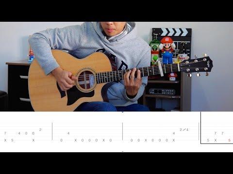 Shawn Mendes In My Blood - Fingerstyle Guitar Lesson FREE TABS Tutorial - Rodrigo Yukio