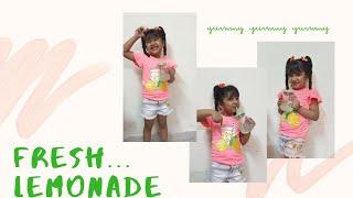 How to make fresh lemonade .......little Amyra&#39s one glass recipe.###