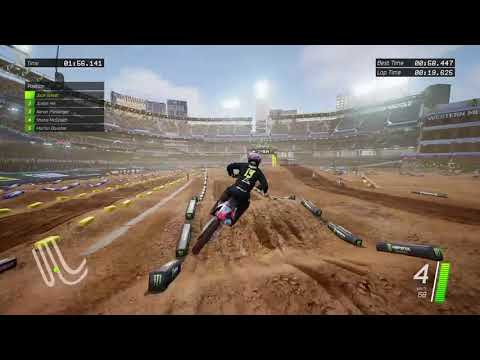 Monster Energy Supercross - Official videogame qualifying gameplay