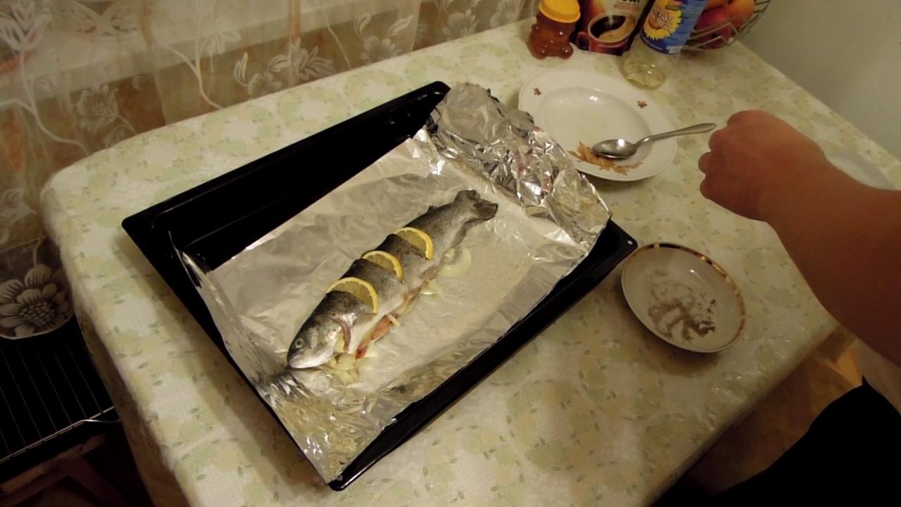 форель в духовке в фольге видео