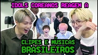 vuclip IDOLS COREANOS REAGEM A MUSICAS BRASILEIRAS feat. BLANC7