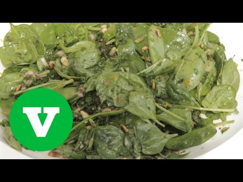 Spinach & Pine Nut Salad | Yum In The Sun 2