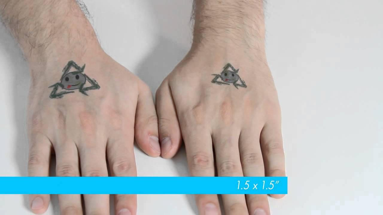 Custom temporary tattoo sizes - YouTube