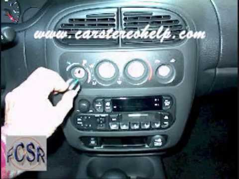 chrysler dodge neon car audio - removal and replacement2000 2003