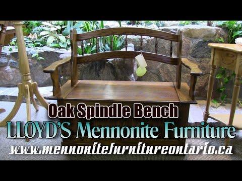 Mennonite Spindle Bench, Mennonite Furniture Gallery Pickering Ontario.