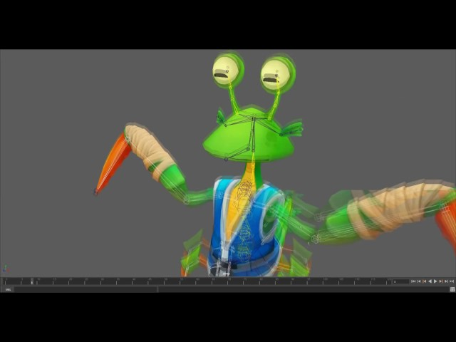 Low-Poly Character Setup using Rigger for Maya (Mantis, Timelapse)