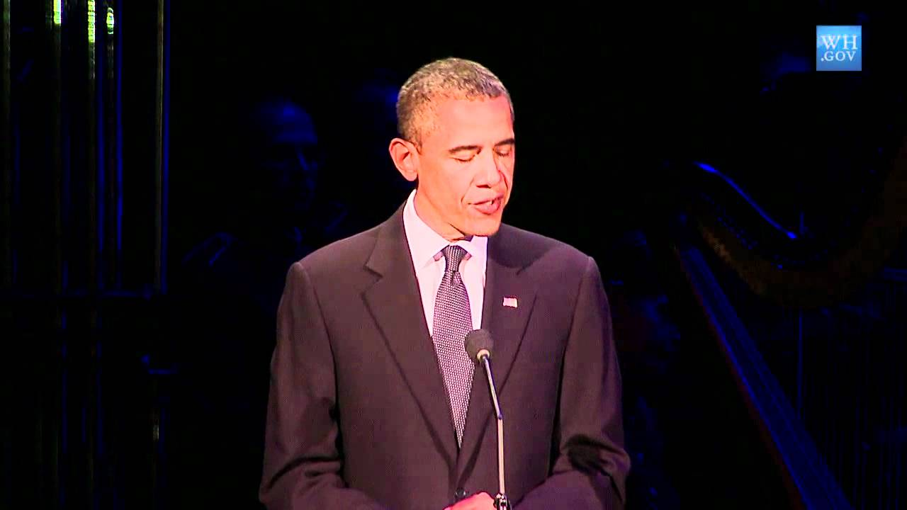 President Obama gives remarks at