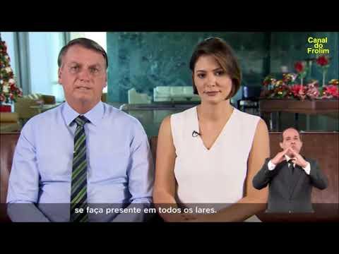 Pronunciamento de Natal do PR Jair Bolsonaro e a Primeira Dama Michelle Bolsonaro