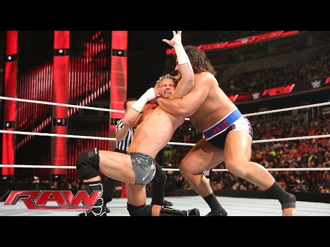 Dolph Ziggler Vs. Rusev – Champion Vs. Champion Match: Raw, December 29, 2014