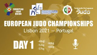 Day 1: Commentated - European Judo Championships 2021