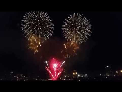 Firework sandiego 2017 : from Coronado island side-2017