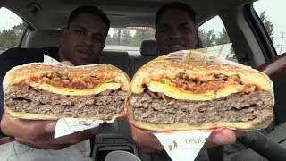 Eating Burger King Farmhouse King @hodgetwins