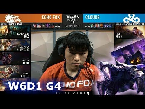 FOX vs C9 | Week 6 Day 1 S9 LCS Summer 2019 | Echo Fox vs Cloud 9 W6D1