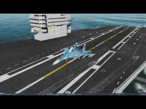 DCS Landing SU-33 on carrier Nimitz