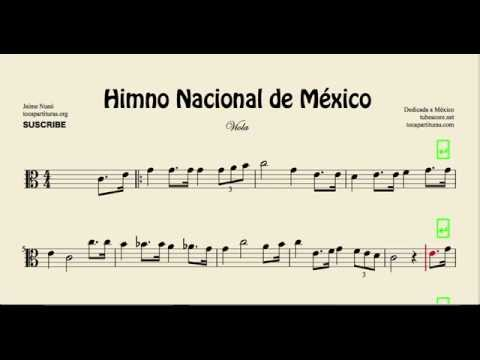 Mexico National Anthem Sheet Music for Viola