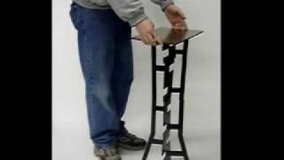 Harbin Folding Table, Wood - Frontier - Www.mjmmagic.com