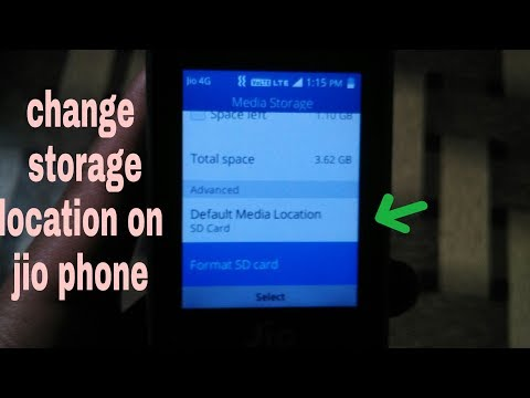 How To Change Storage Location In Jio Phone