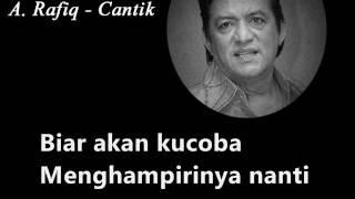 Arafiq - Cantik  Karaoke