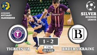 Tickets UA - Bader Ukraine [Огляд матчу] (Silver Business League. 1 тур)