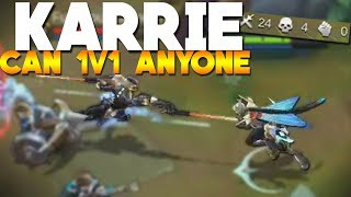 Using Karrie in Ranked With OP Build! (near Pentakill) Mobile Legends Gameplay