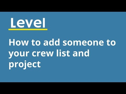 Adding Someone to your crew list and project