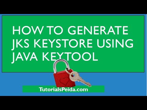 How To Generate Key Store Using Key Tool And Export Public Certificate From JKS File