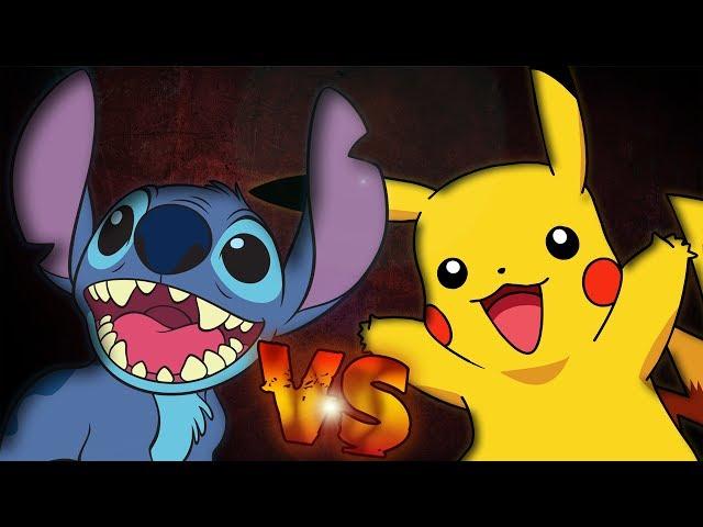 Pikachu Vs Stitch Batalla de Rap