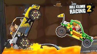 Новое Приключение ДОЛИНА В ПУСТЫНЕ Hill Climb Racing 2 самая опасная гонка в игре про машинки