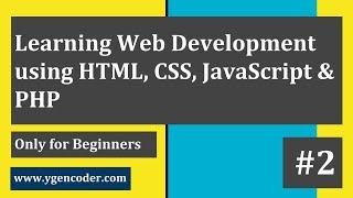 Web Dev. Tutorial (Beginners) #2 - Understanding HTML DOM