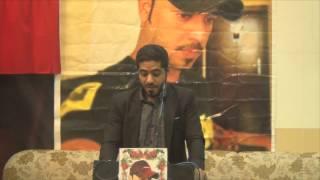 انا ابن السنابس قصيدة الشاعر محمد المخوضر فى تابين الشهيد عبدالعزيز العبار 18 ابريل 2015