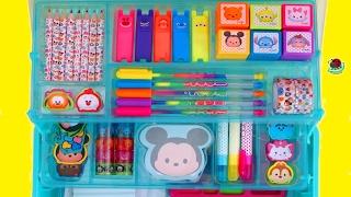 KIDS ART SET | Disney Tsum Tsum Deluxe Art Set: Creative Activity For Kids | itsplaytime612