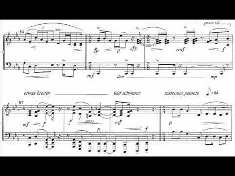 Wolpe - Piano Sonata No. 1, op. 1 (Holzman) Audio + Sheet music