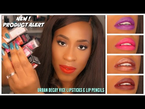 First Look: New! Urban Decay Vice Lipsticks & 24/7 Glide-on Lip Pencils