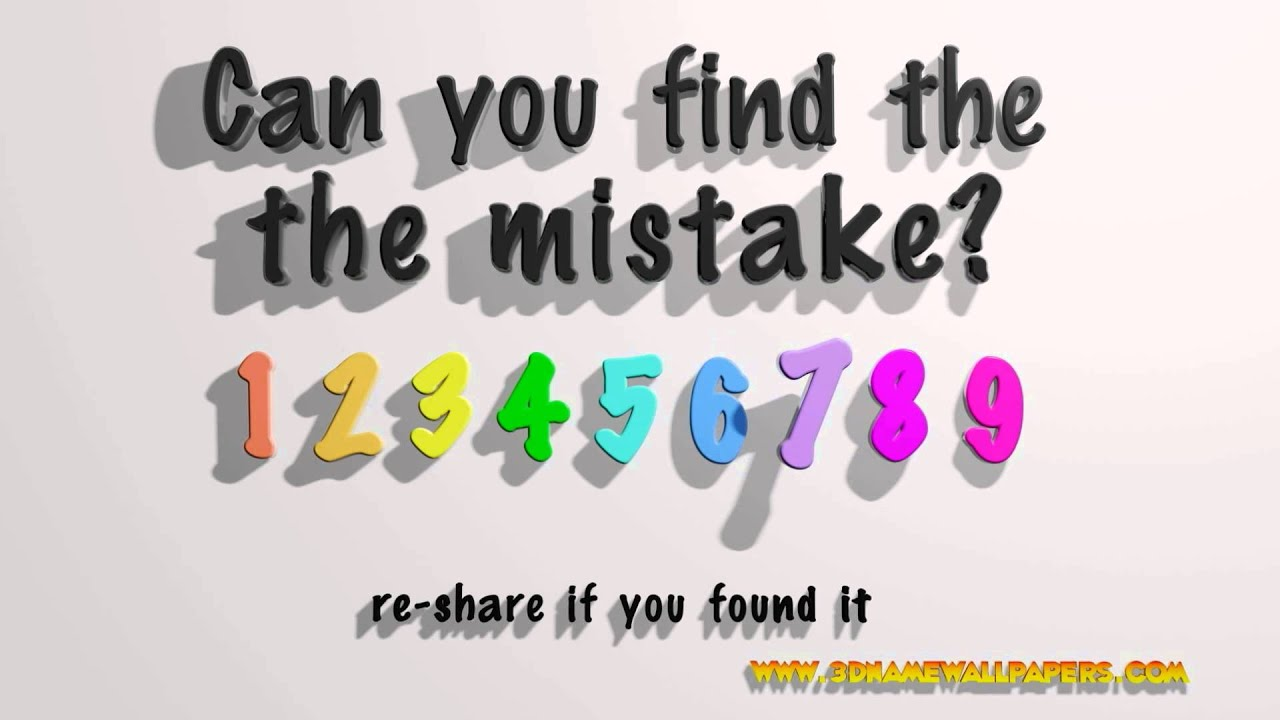 Can you find the mistake? - Yo...