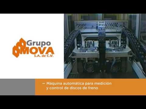 Máquina automática para medición y control de discos y freno.