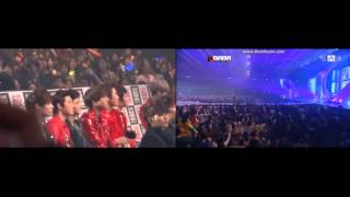 vuclip 121130 MAMA EXO reaction (for Suzy Miss A : 수지) During B.o.B's 'Nothin' On You' ft.K.Will