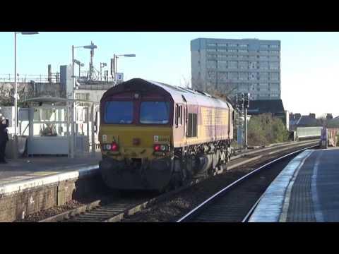 EWS 66092 passing Leytonstone High Road