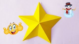 EASY Paper Star | How to make Christmas Star Decoration | Craft Ideas for Christmas Decoration