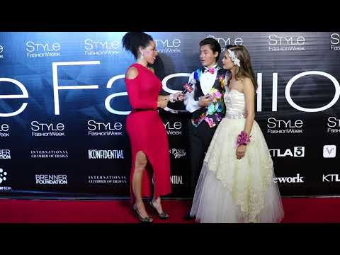 Isaak Presley and Andora Leigh McConnell Interviews with Jackie Elam Live at Style Fashion Week