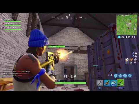 Fortnite- Port-a-Fort Gameplay and destroying teams