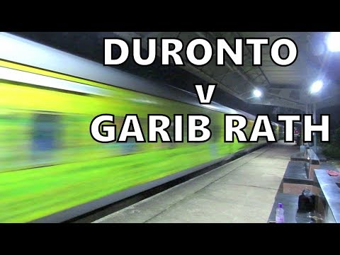 Fastest DURONTO v Smallest GARIBRATH 130 kmph Night Storms attack Kamarkundu
