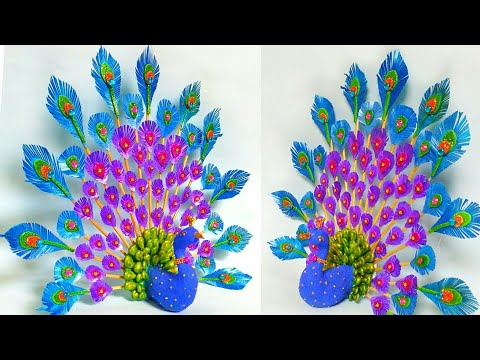 3D Peacock Craft  | Wall Hanging | Peacock Craft Ideas | Unique Craft Ideas | By Punekar Sneha