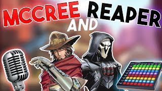Reaper Soundboard and McCree Voice Actor in Overwatch Competitive! (Overwatch Trolling)