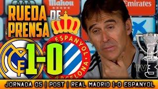 Real Madrid 1-0- Espanyol Rueda de prensa de LOPETEGUI (22/09/2018) | POST LIGA JORNADA 05
