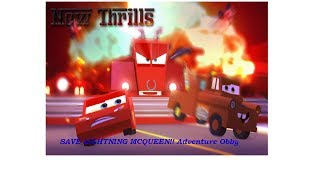 Roblox - Salve o MCQUEEN! (SAVE LIGHTNING MCQUEEN!! Adventure Obby)