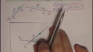Репетитор по математике ищет угол между двумя прямыми